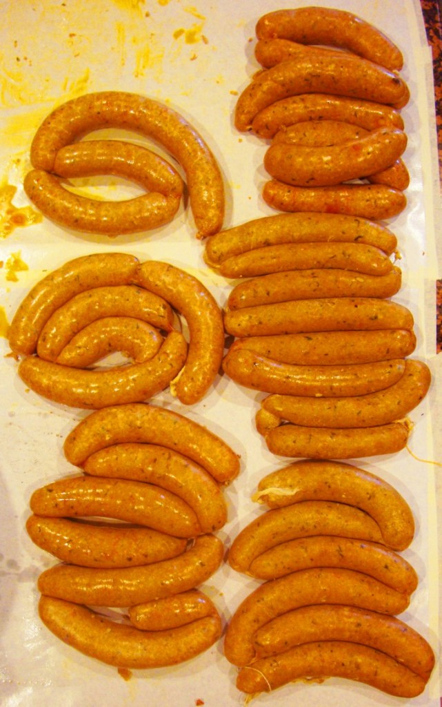 Handmade Boudin From The Scrumptious Chef Cooking Crew