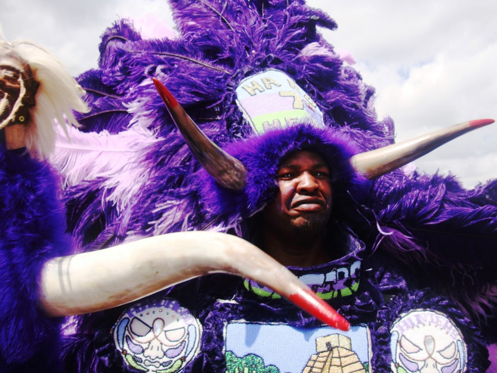 This Mardi Gras Indian Had Laser Beam-Like Eyes