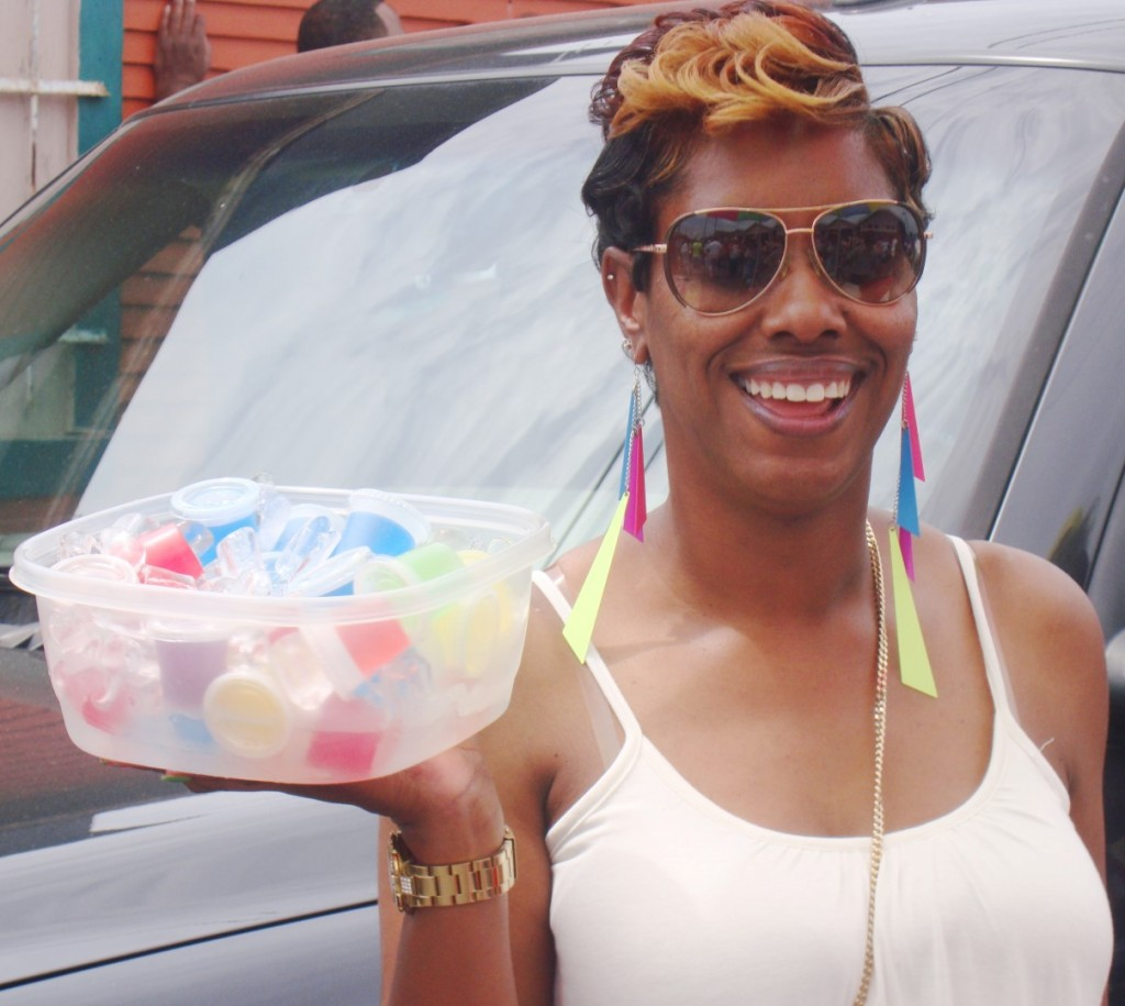 A Smiling Lady Was At The Pigeon Town Steppers With Jello Shots