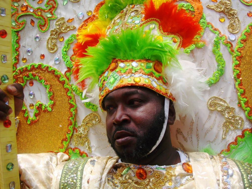The King Of The 2015 Pigeon Town Steppers Second Line
