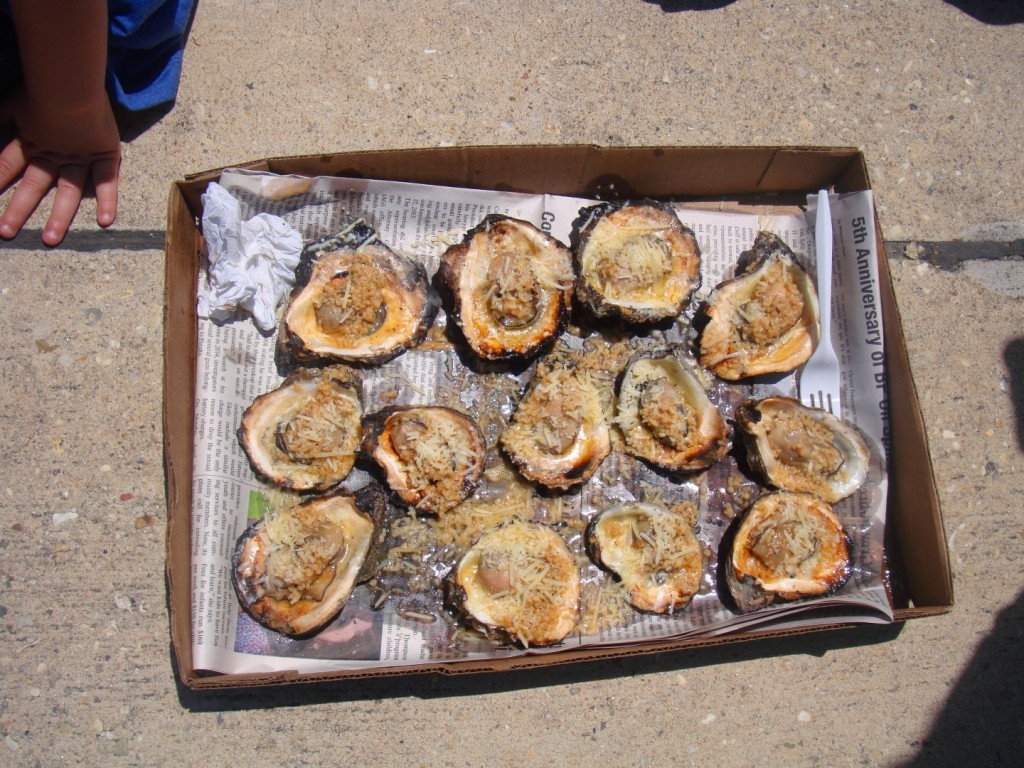 Char Grilled Oysters At Chalmette Tomato Festival