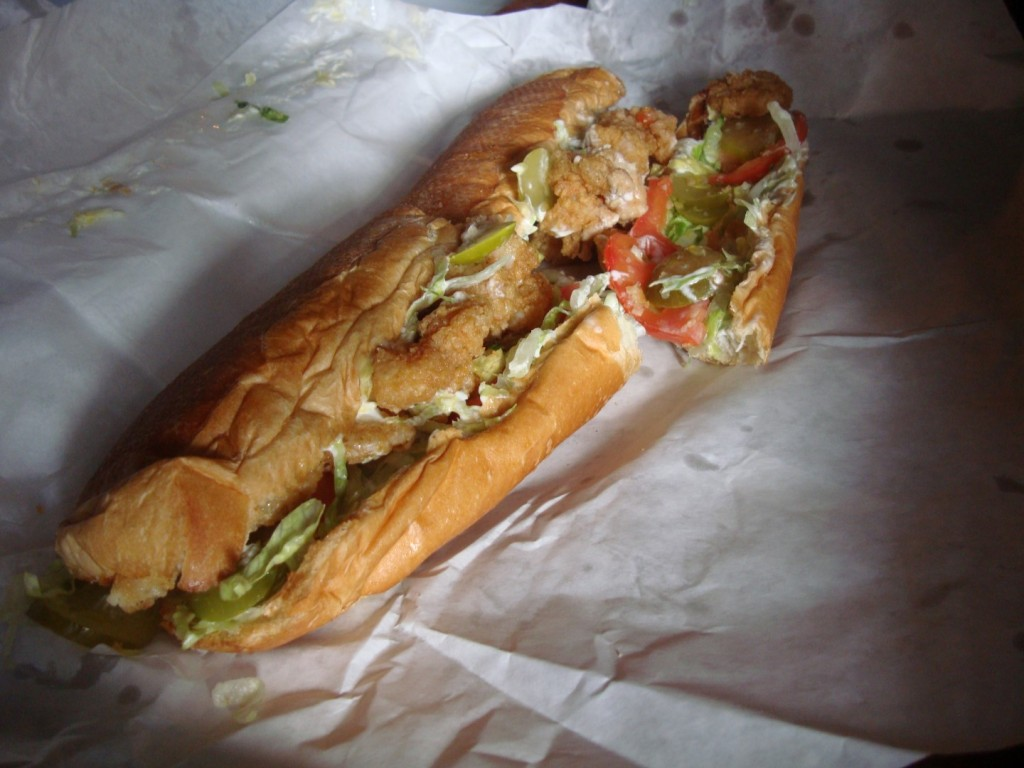Behold The Majesty Of This Fried Shrimp Po Boy