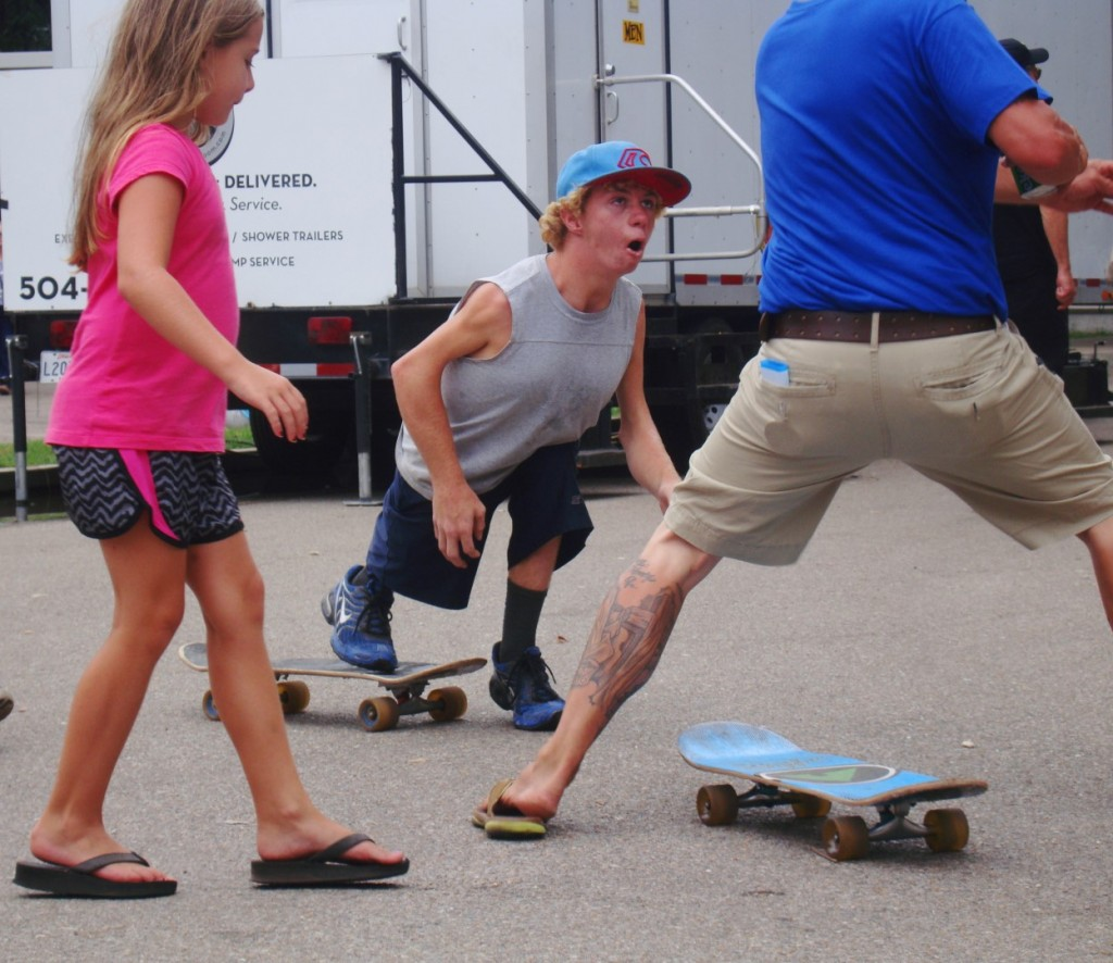 This Petit Skateboarder Provided Plenty Entertainment