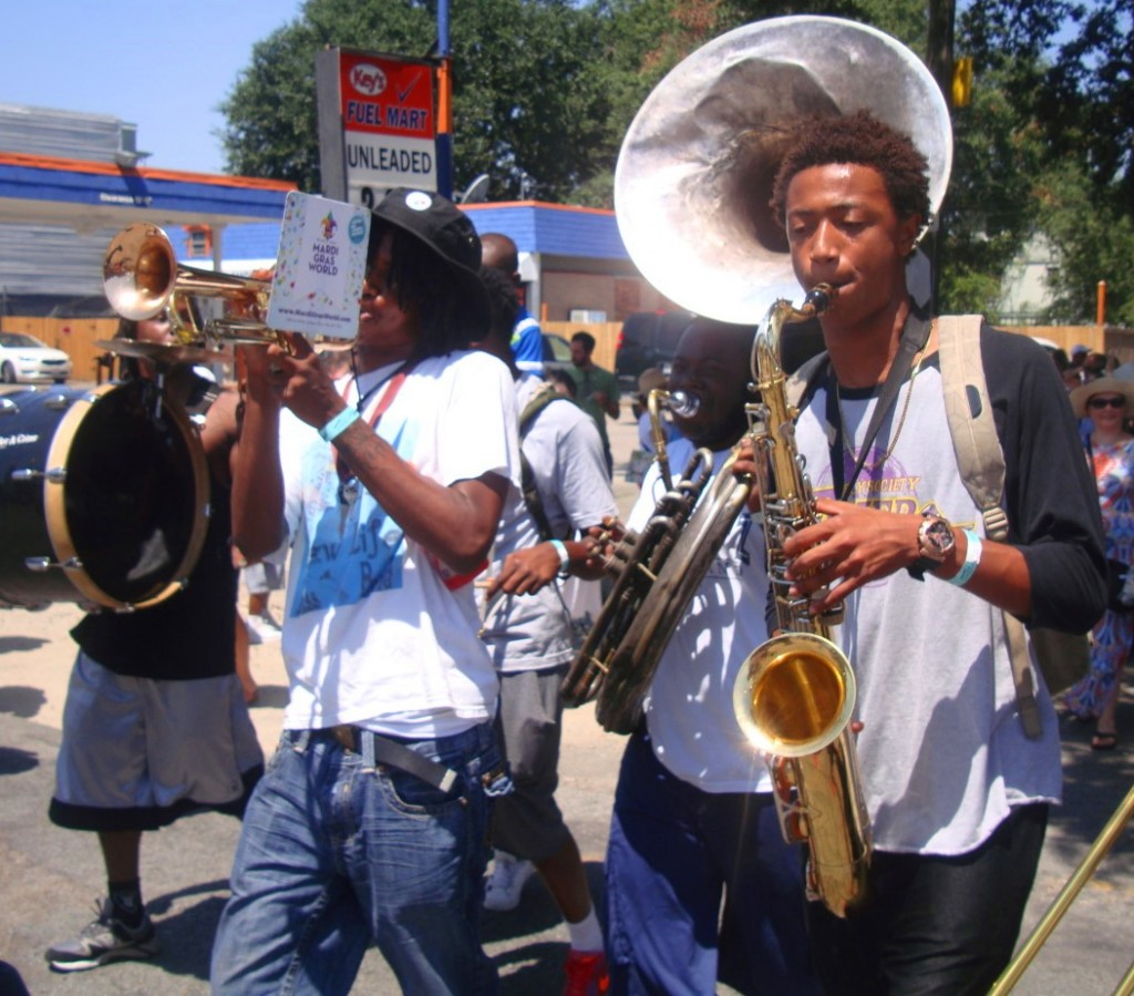 Young Man With A Horn At Satchmo Summerfest Second Line