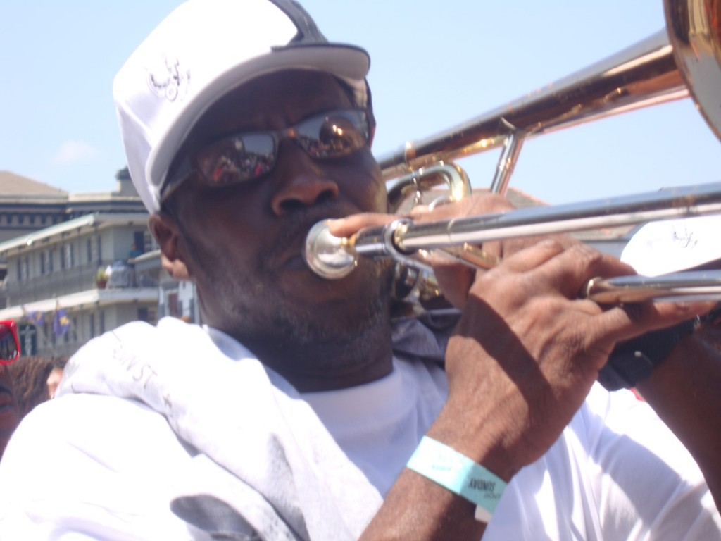 Slide Trombone At Satchmo Second Line 2015