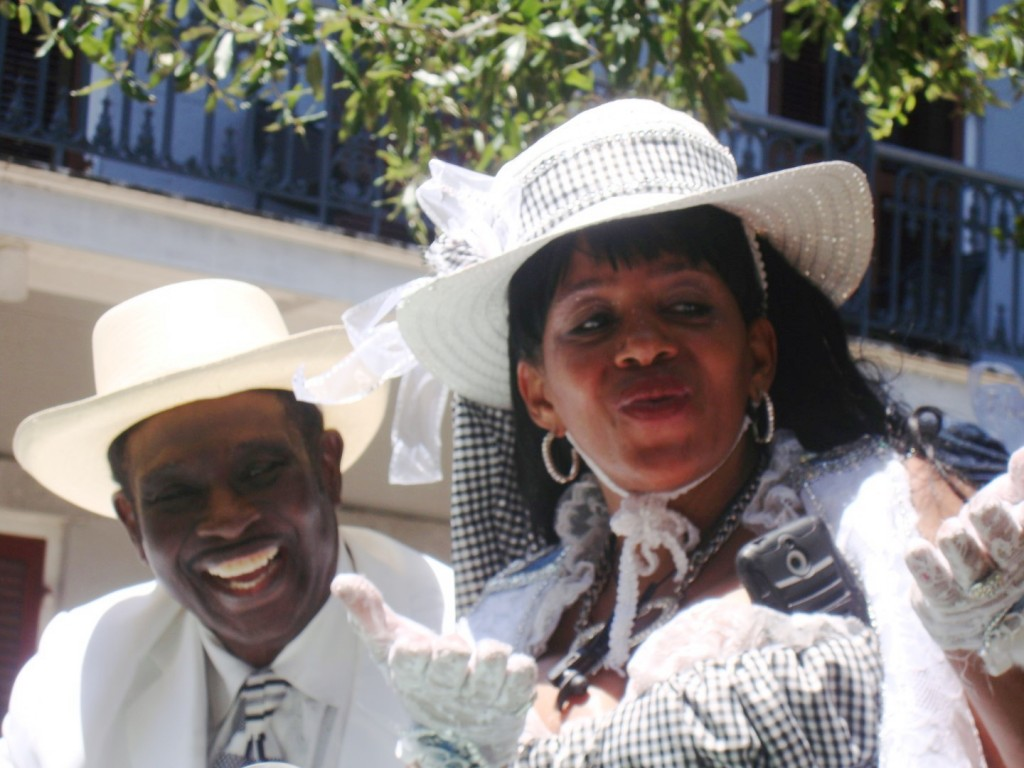 Al Johnson And The Lovely Resa Bazile At Satchmo Second Line