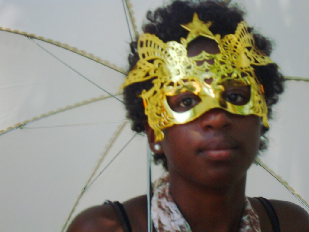 Masked Beauty At Satchmo Summerfest Second Line