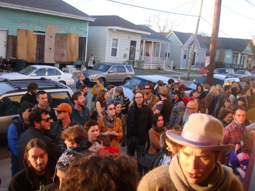 A Crowd Gathers In The Lower 9th Ward To See Weather Warlock via RL Reeves Jr