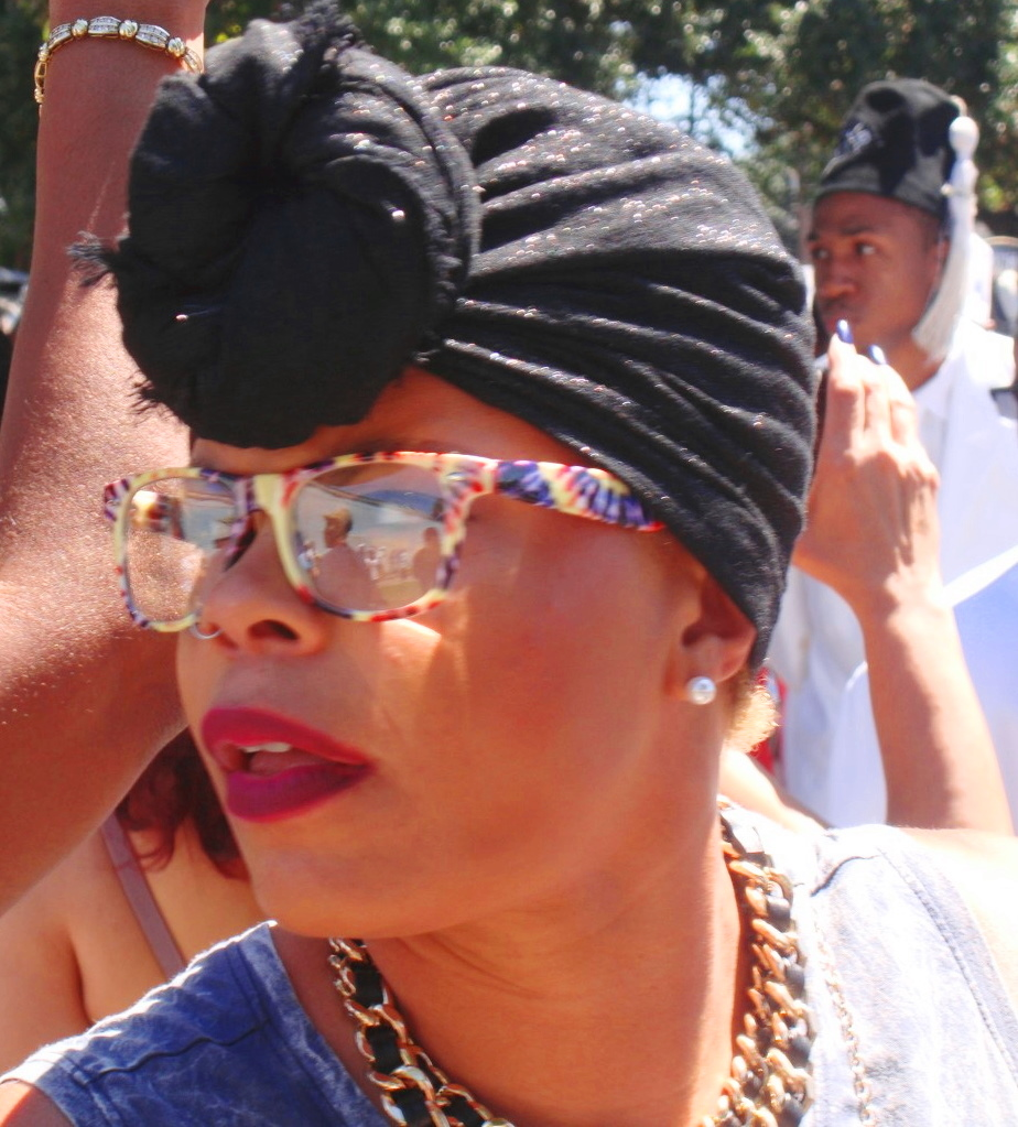 Reveler at 2015 Young Men Olympian Junior Benevolent Association Second Line