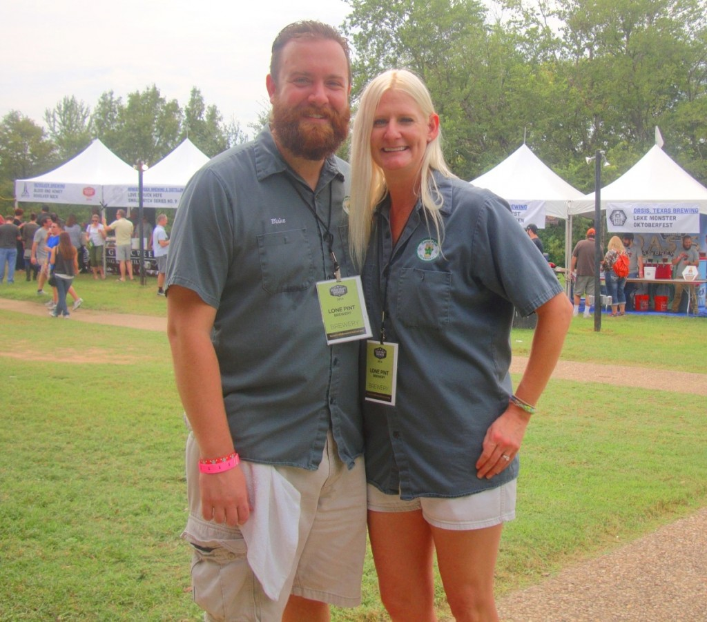 Blake and Heather Niederhofer of Lone Pint Brewery via rl reeves jr