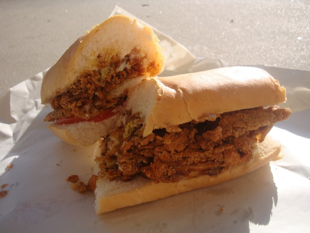 Monster Soft Shell Crab Po Boy At 2015 River Parishes Fall Festival In Norco Louisiana