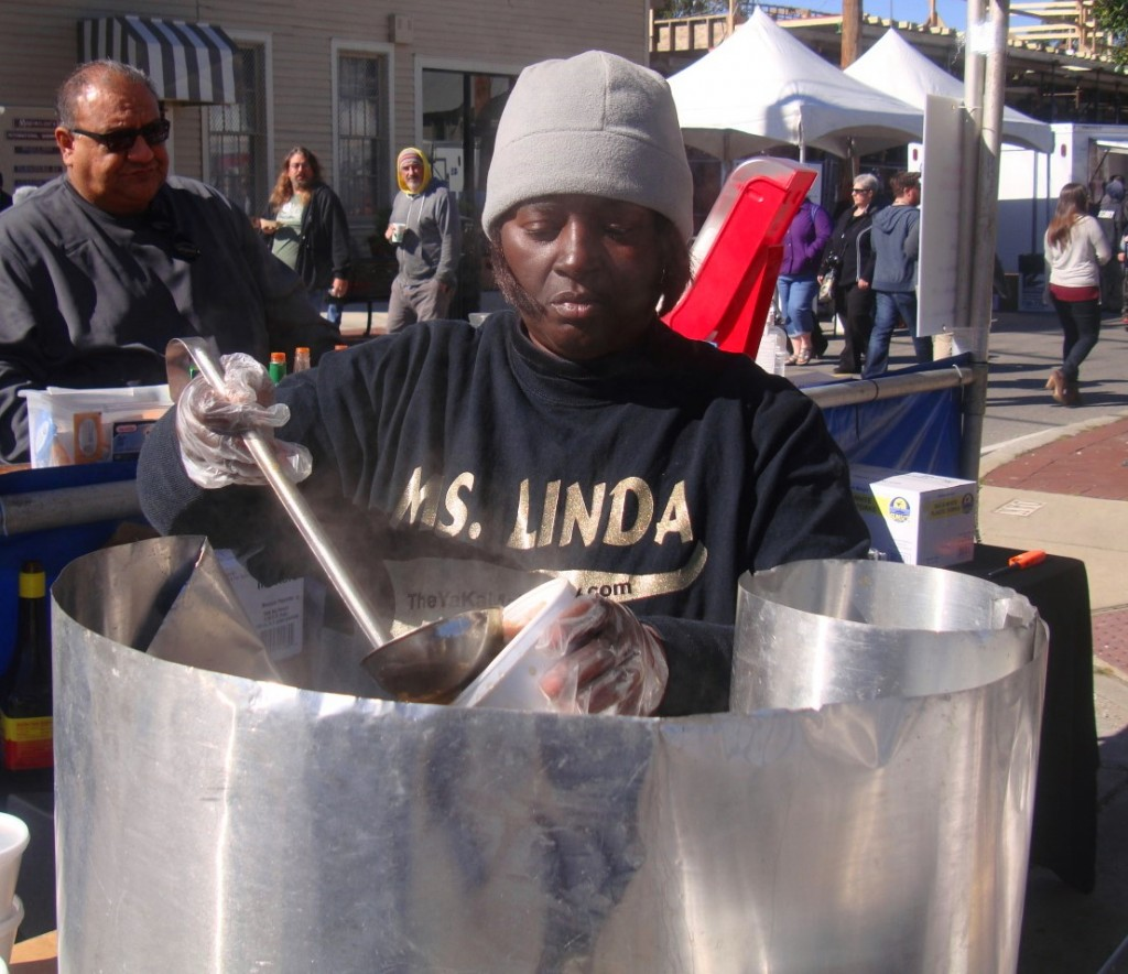Ms Linda Green's Assistant At 2015 New Orleans Po Boy Festival