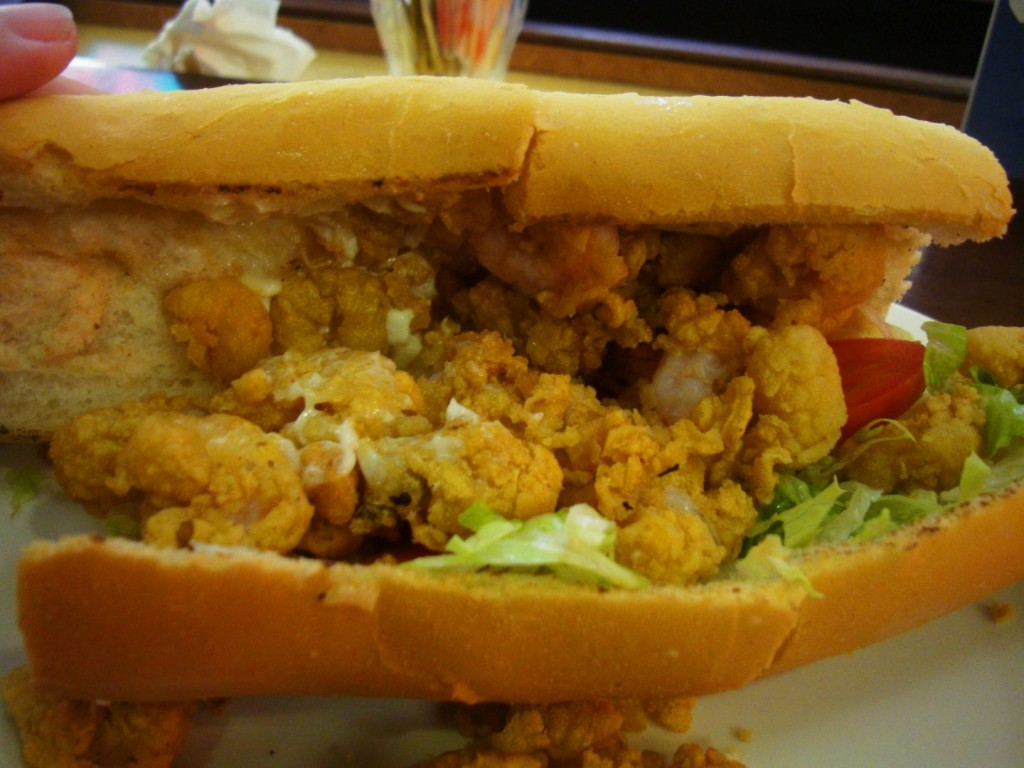 Fried Shrimp Po Boy At The Pearl 119 St. Charles Avenue