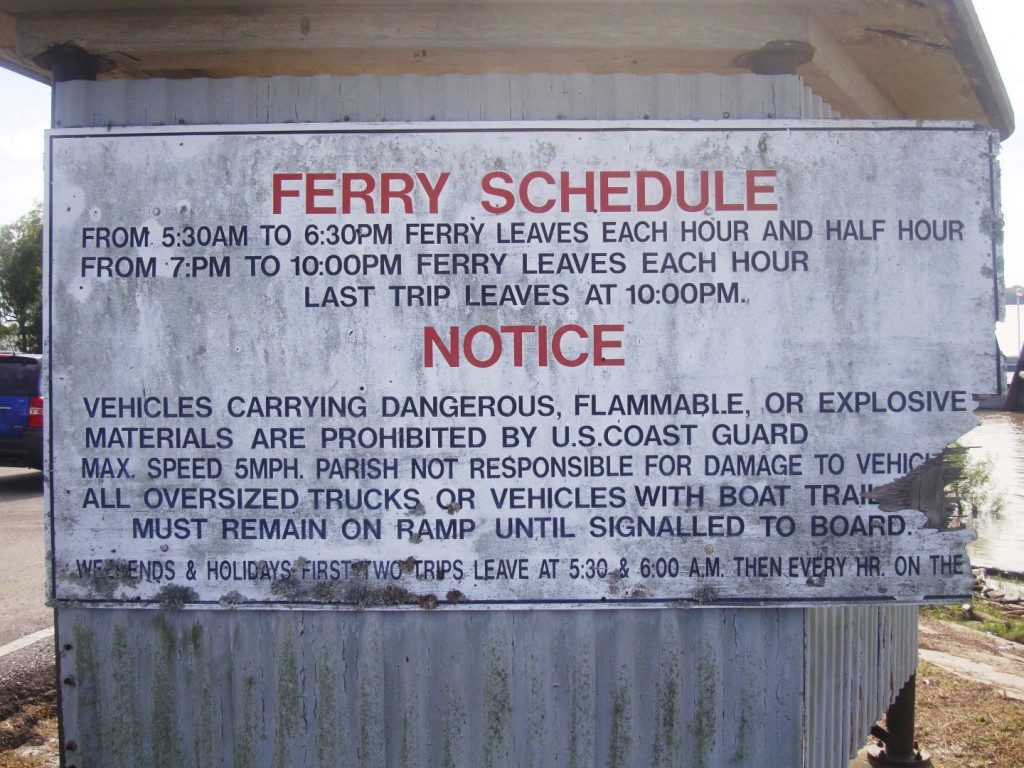 Pointe à la Hache Ferry via rl reeves jr