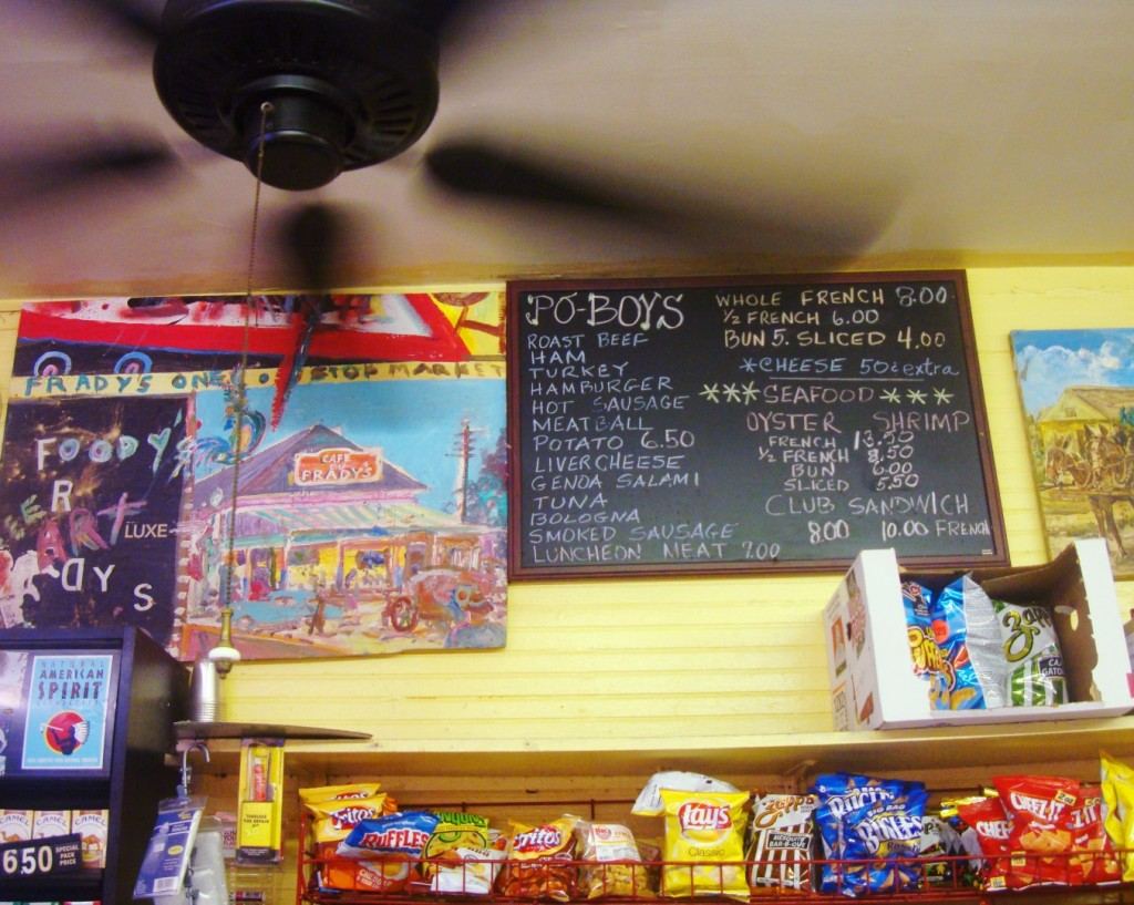 The Menu Board At Frady's In New Orleans Bywater Neighborhood