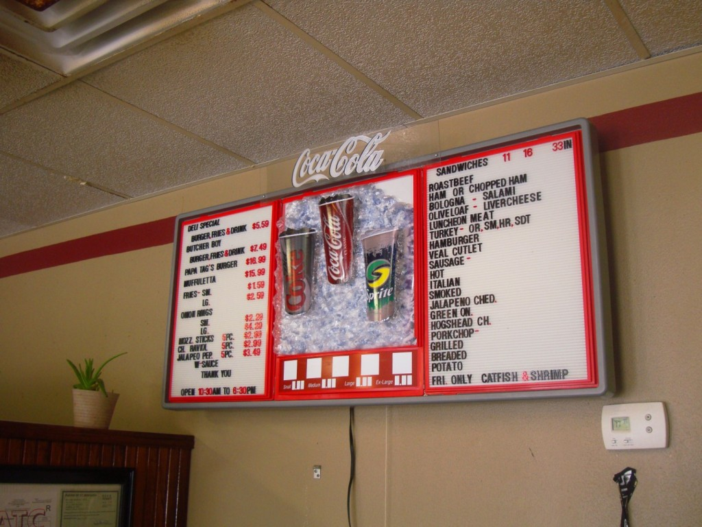 Online Menu For Tag's Meat Market