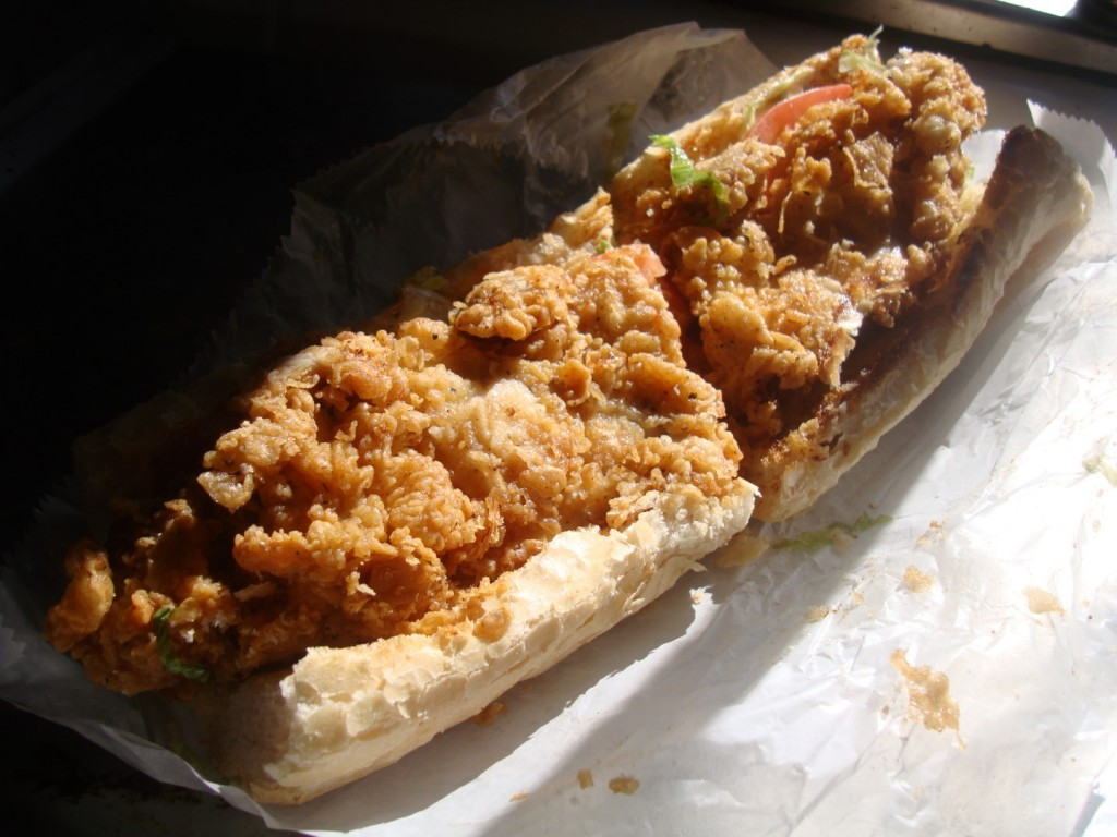Fried Chicken Po Boy via Heard Dat Kitchen