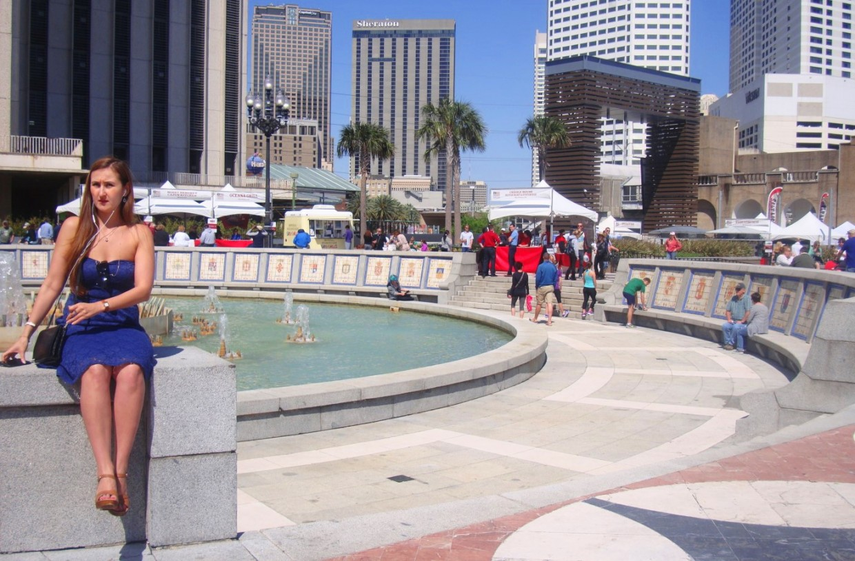 Spanish Plaza In New Orleans