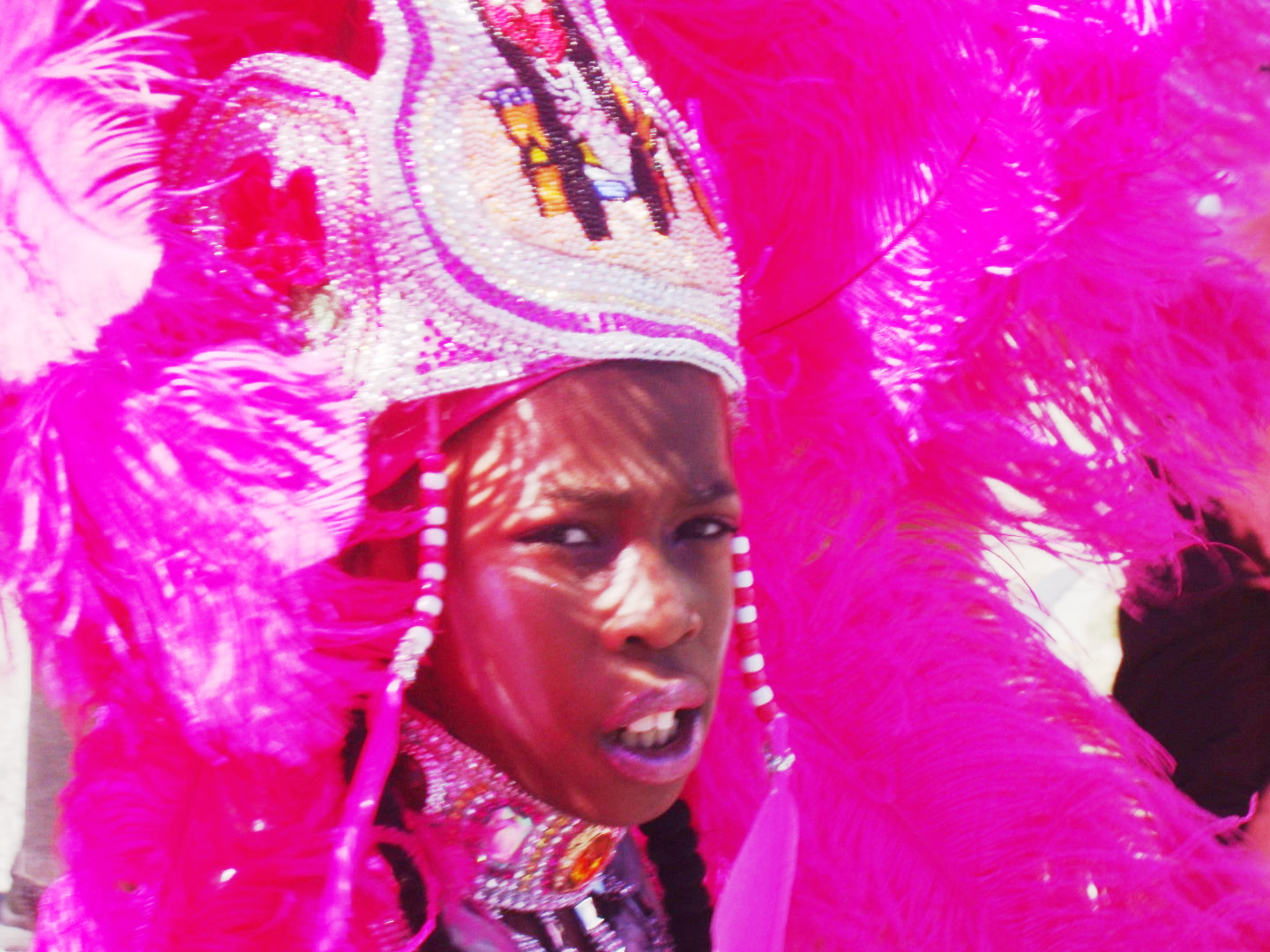 A Mardi Gras Indian via rl reeves jr